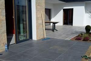 Carrelage Terrasse Gris : carrelage gris anthracite pleine masse maison et mobilier ~ Nature-et-papiers.com Idées de Décoration