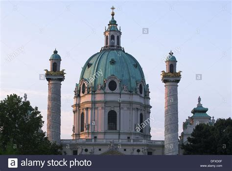 Karlskirche, Charles` Church, Dome, Cupola, Columns With