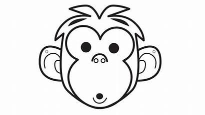 Monkey Animal Mask Printable Template Animals Face