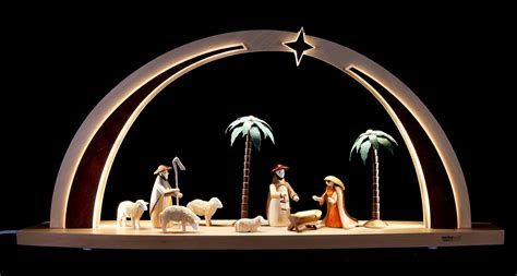 light arch nativity scene led 60x25x11cm 23 6x9 8x4 3in