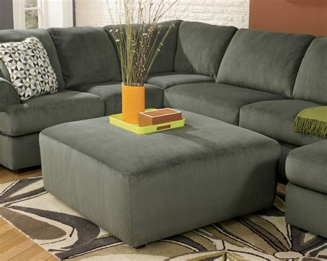 jessa place jessa place pewter oversized accent ottoman from