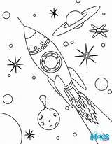 Rocket Coloring Space Pages Drawing Ship Simple Printable Print Getdrawings Hellokids Designlooter sketch template