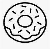 Donut Donuts Doughnut Clipart Coloring Sprinkles Svg Line Icon Food Printable Sprinkle Frosting Drawing Websites Apps  Circle Vector Silhouette sketch template