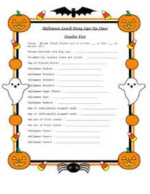 Halloween Office Potluck Signup Sheet by Halloween Party Sign Up Sheet By Katrina Lopez Tpt