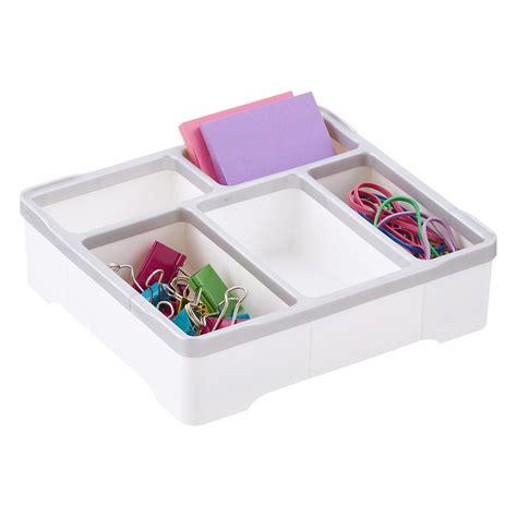 desk organizer tray 5 compartment square desk organizer the container