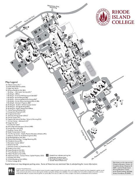 rhode island college campus map