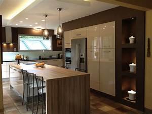 cuisine avec ilot central pas cher cuisine en image With idee deco cuisine avec cuisine intégrée prix