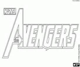 logo de los vengadores the avengers para colorear pintar