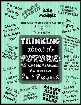 thinking   future  career readiness activities