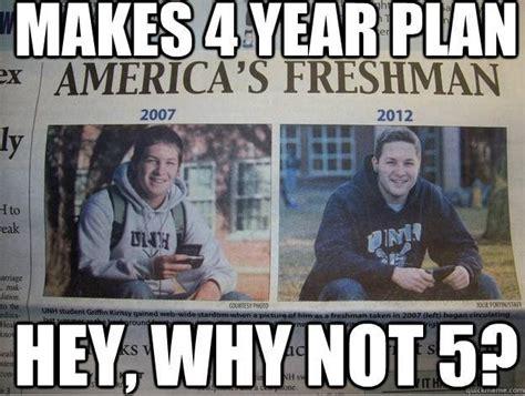 College Freshman Meme - guy in college freshman meme now stars in a new college senior meme