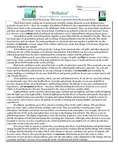 8th Grade Reading Comprehension Worksheets Pdf