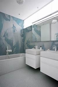Fliesen Tapete Für Bad : wasserdichte tapeten f r die dusche bad bathroom pinterest tapeten bad und fliesen ~ Markanthonyermac.com Haus und Dekorationen