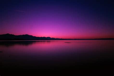 Download 2560x1440 Twilight, Sunset, Horizon, Purple Sky ...