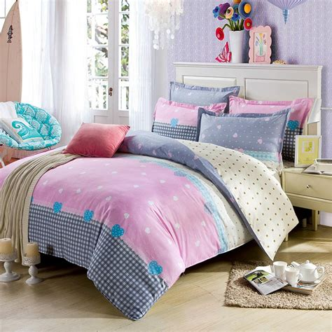 light pink and white exclusive cotton bedding set