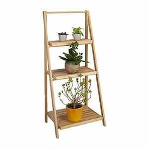 Etagere Pour Fleur : relaxdays escalier tag re pour fleurs en bambou 3 tages ~ Zukunftsfamilie.com Idées de Décoration