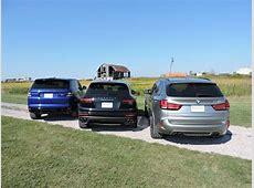 BMW X5 M vs Porsche Cayenne Turbo S vs Range Rover Sport