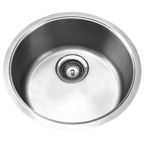 round stainless steel sink mondella single round stainless steel bowl sink bunnings