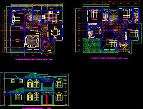 duplex house dwg elevation  autocad designs cad