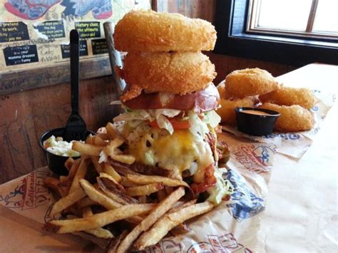 kitchen sink burger rise to the challenge to eat the kitchen sink burger 2598