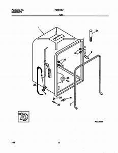 Tub Diagram  U0026 Parts List For Model Fdb345lfs0 Frigidaire