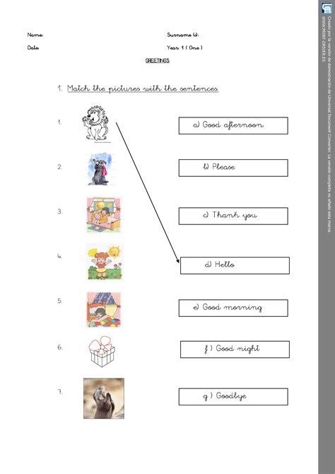 Greetings Matching Activity Worksheet Personal Teaching Resources Esl  Esl Pinterest