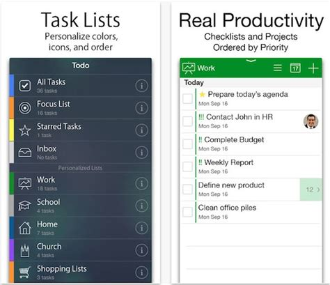 the best to do list apps for iphone