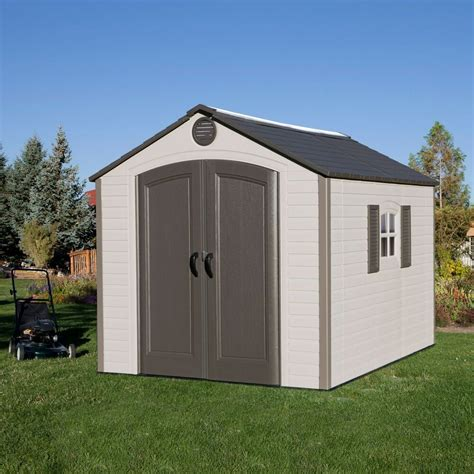 storage sheds at costco lifetime 8 x 10 outdoor storage shed uv protected