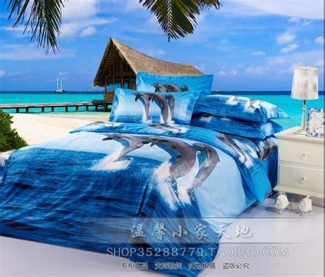 housse de couette dauphin bleu oc 233 an dauphin couette ensemble de literie size lit dans un sac draps de couette