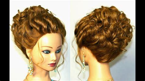 wedding hairstyle  medium long hair romantic updo