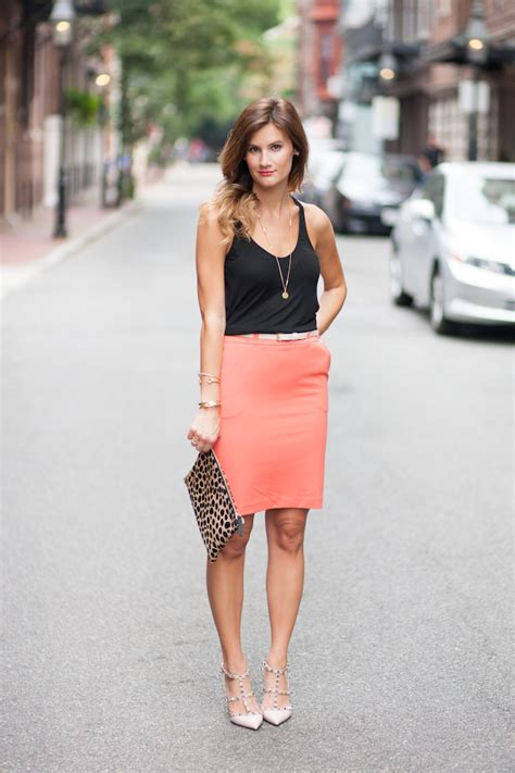Style simplicity bright pencil skirt