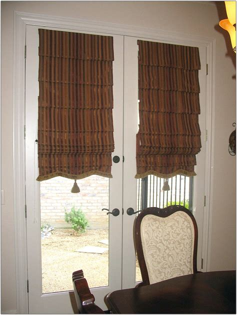 decorating cute pattern curtains  french doors decor