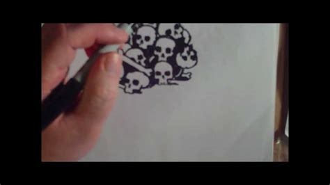 pile  skull speed drawing youtube