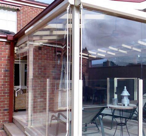 bistro blinds clear pvc melbourne awnings shade systems