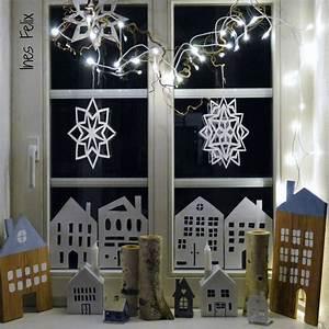 Fenster Bemalen Weihnachten : ines felix kreatives zum nachmachen winter weihnachts fenster dekoration mit h usern ~ Watch28wear.com Haus und Dekorationen