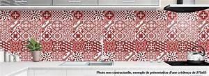 Carreaux De Ciment Rouge : cr dence alu pour cuisine carreaux de ciment rouge ~ Melissatoandfro.com Idées de Décoration