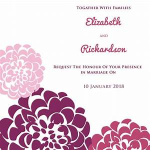 Create your own wedding invitations online for free for Wedding invitation free online for whatsapp