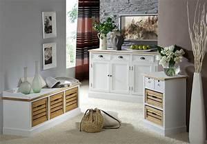 Paulownia Holz Möbel : garderobe paris in paulownia holz weiss vintage look landhaus ebay ~ Buech-reservation.com Haus und Dekorationen