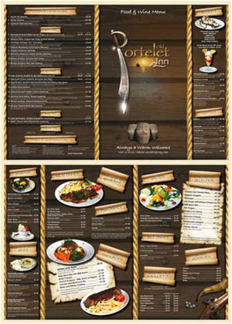 restaurant menu cards design images