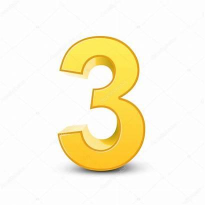 Number Yellow 3d Shiny Vector Illustration Kchungtw