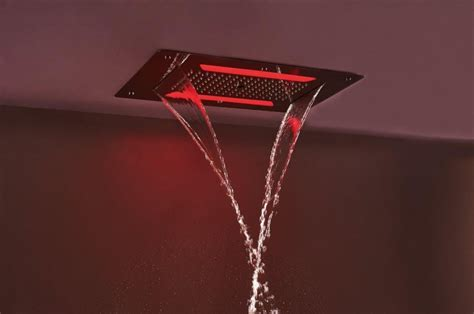 duschpaneel led beleuchtung 2 regendusche edelstahl deckenbrause dpg5030 superflach