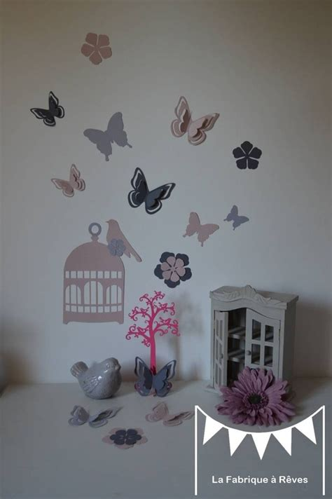 decoration papillon chambre fille deco chambre fille theme papillon