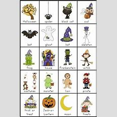 Halloween Vocabulary Sheets  Festival Collections