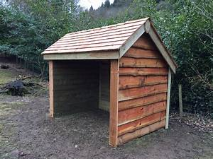 Waney edge field sheep shelter The Wooden Workshop