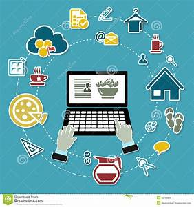 Work from home stock vector. Image of technology, concept ...