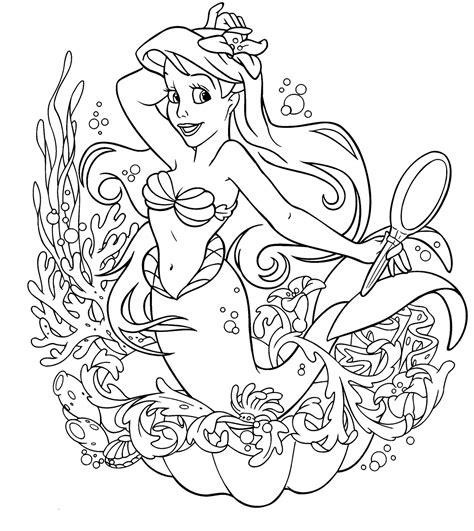 Disney Little Mermaid Coloring Page Best Gift Ideas Blog