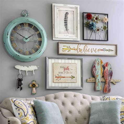 vintage charm decor bring a shabby chic charm to your home by adding pieces of wall decor from kirkland s flea