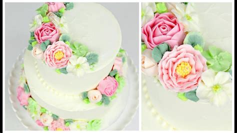 Buttercream Flower Wedding Cake Tutorial Cake Style