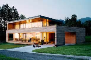 open kitchen with island austrian wooden houses timber clad inside and out
