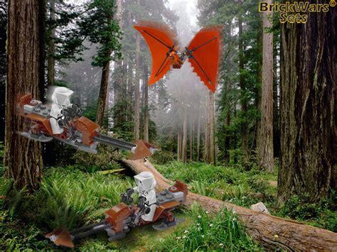 brickwars sets ewok hang glider lego star wars
