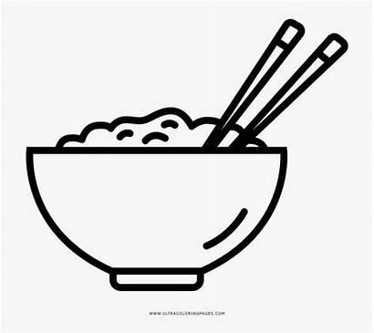 Dibujo Rice Arroz Coloring Un Bowl Leche